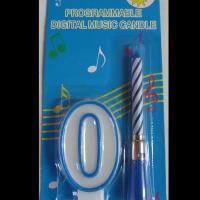 Свещички цифри + музикална свещ